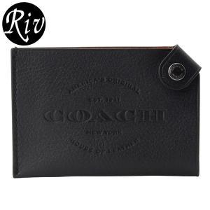 コーチ COACH カードケース 名刺入れ メンズ ブラック f24659 アウトレット riverall-men