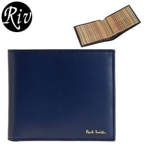ポイント5%還元 ポールスミス PAUL SMITH 財布 折財布 二つ折り メンズ m1a4833|riverall-men