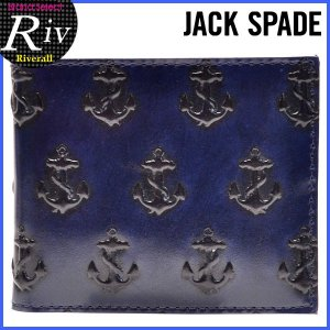エコバッグ付 ジャックスペード JACK SPADE メンズ 財布 二つ折り財布 レザー nyru0275|riverall-men