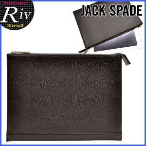 エコバッグ付 ジャックスペード バッグ JACK SPADE クラッチバッグ メンズ ポーチ ブラック レザー nyru1155|riverall-men