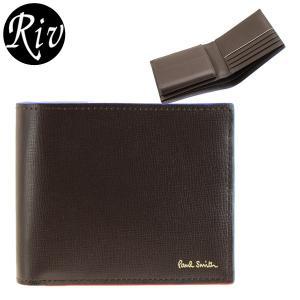 ポイント5%還元 ポールスミス PAUL SMITH 財布 折財布 二つ折り メンズ psmlw|riverall-men