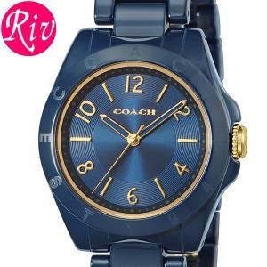 コーチ COACH 腕時計 レディース COACH TRISTEN 32mm ネイビー ゴールド セラミック 14501965 riverall
