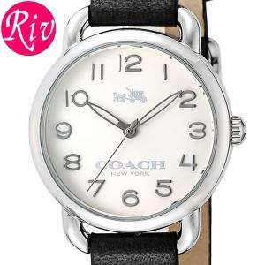 コーチ COACH 腕時計 DELANCEY SMALL 28mm レディース シルバー カーフレザー ステンレススチール 14502257 riverall