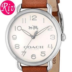 コーチ COACH 腕時計 DELANCEY 36mm レディース シルバー カーフレザー ステンレススチール 14502273 riverall