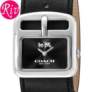 コーチ COACH 腕時計 DUFFLE BUCKLE 28.5mm レディース シルバー カーフレザー 14502324 riverall