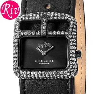 コーチ COACH 腕時計 DUFFLE BUCKLE 22mm レディース ブラック カーフレザー 14502357 riverall