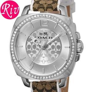 コーチ COACH 腕時計 BOYFRIEND 33.5mm レディース シルバー カーフレザー 14502416 riverall