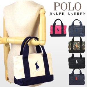 33da1d16c7 ポイントキャンペーン中 ポロ ラルフローレン Polo Ralph Lauren トートバッグ POLO PONY TOTE SM キャンバス  1ra1000