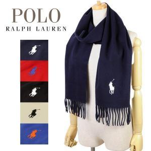 ポロ ラルフローレン Polo Ralph Lauren Big Pony Embroidered Scaef メンズ レディース マフラー ストール ヴァージンウール100% 6f0514 riverall