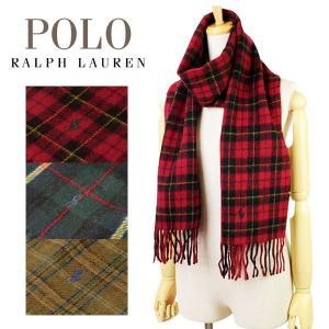 ポロ ラルフローレン Polo Ralph Lauren Doubleface Tartan チェック メンズ レディース マフラー ストール ウール×ナイロン 6f0521 riverall