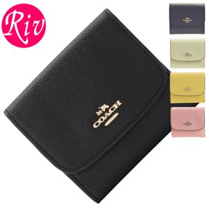 COACH サイフ コーチ 財布小さめバッグにも収納できる三つ折り財布。シンプルなフラップデザインの...