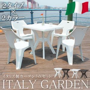 ガーデンセット ガーデン 5点セット テーブル セット チェアー イタリア製 riverp