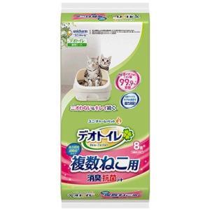 【ユニチャーム】1週間消臭・抗菌デオトイレ 複数ねこ用消臭・抗菌シート 8枚