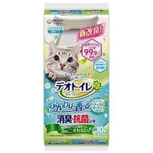 【ユニチャーム】デオトイレ ふんわり香る消臭・抗菌シート ナチュラルガーデンの香り 10枚|riverside