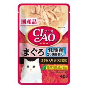 【いなばペット】チャオパウチ 乳酸菌入り まぐろ ささみ入りかつお節味 40g riverside