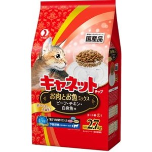 【ペットライン】キャネットチップ お肉とお魚ミックス 2.7kg