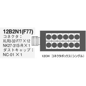 CANARE コネクタボックス(シングル) 12B2N1(F77) rizing