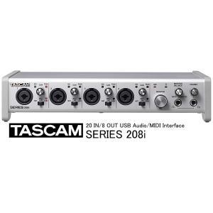 TASCAM/タスカム 20 IN/8 OUT USB Audio/MIDIインターフェース SERIES 208i  rizing