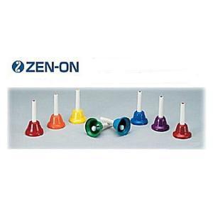 ゼンオン/全音 ミュージックベル カラーハンド式タイプ 8音セット CBR-8|rizing