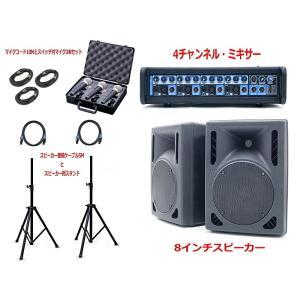 NEU モバイルPAシステム LIVEACTIVE4 DSP+LS8 即音出しOKセット!|rizing