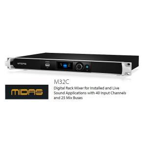 MIDAS コンパクトデジタルラックミキサー M32C