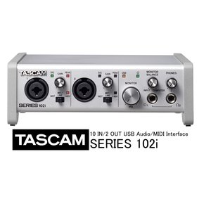 TASCAM/タスカム 10 IN/2 OUT Audio/MIDI インターフェース SERIES 102i rizing