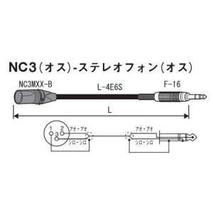 XLR/キャノン(オス)-ステレオフォン(オス) 2mマイク/ラインケーブル  XLR(オス)コネク...