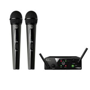 AKG B帯 2チャンネルワイヤレス システム VOCAL SET DUAL WMS40 PRO MINI2