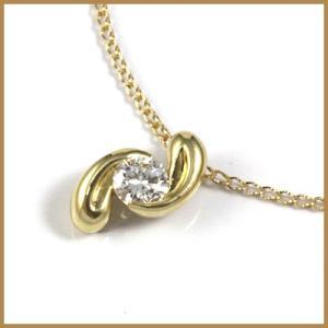 ネックレス レディース 18金 D0.318 K18 ダイヤモンド * 女性 かわいい オシャレ 中古 necklace 価格見直し rk-y