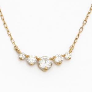 ネックレス レディース 10金 キュービックジルコニア K10 シンプル キュート おしゃれ 女性 中古 necklace sprice0708|rk-y