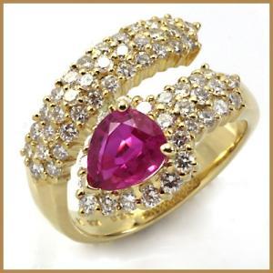 ポンテヴェキオ リング 指輪 レディース 18金 Ponte Vecchio K18 ルビー ダイヤモンド 11号 BJ * 女性 かわいい オシャレ 中古 ring|rk-y