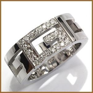 グッチ リング レディース 指輪 18金 K18WG GUCCI 7号 #7 ホワイトゴールド BJ * 女性 かわいい オシャレ 中古 ring sprice0708 rk-y