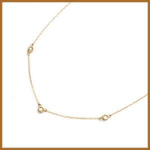 デザインネックレス レディース 10金 K10PG ダイヤモンド D0.10 ピンクゴールド 女性 かわいい オシャレ 中古 necklace sprice0708|rk-y