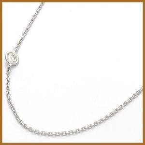 デザインネックレス レディース 18金 K18WG ダイヤモンド D0.05 チェーン ホワイトゴールド 女性 かわいい オシャレ 中古 necklace sprice0708|rk-y