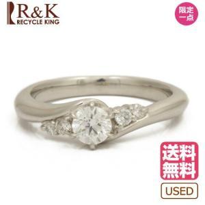 Star リング 指輪 レディース PT950 ダイヤモンド D0.329 7号 プラチナ メンズ おしゃれ かわいい ギフト プレゼント 中古 ring|rk-y
