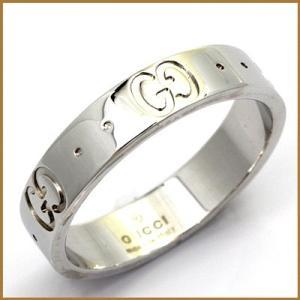グッチ リング 指輪 レディース 18金 K18WG GUCCI 14号 #15 ホワイトゴールド BJ * 女性 かわいい オシャレ 中古 ring 価格見直し|rk-y
