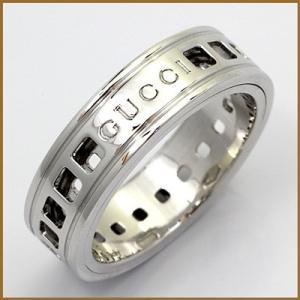 グッチ リング 指輪 レディース 18金 K18WG GUCCI 9号 #10 ホワイトゴールド BJ * 女性 かわいい オシャレ 中古 ring 価格見直し rk-y