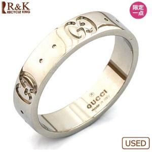 グッチ リング 指輪 レディース 18金 K18WG GUCCI アイコンリング 8.5 9 ホワイトゴールド かわいい オシャレ 中古 ring 価格見直し rk-y