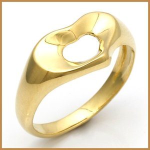 ティファニー リング 指輪 レディース 18金 K18 TIFFANY&CO. ハート 11号 BJ * 女性 かわいい オシャレ 中古 ring 価格見直し|rk-y