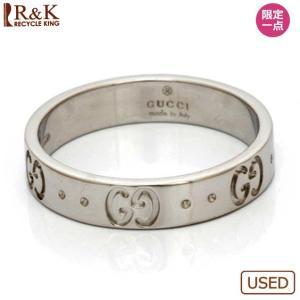グッチ リング 指輪 レディース 18金 K18WG GUCCI アイコン 12.5号 ホワイトゴールド BJ おしゃれ 女性 中古 ring 価格見直し|rk-y