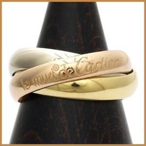 カルティエ リング 指輪 レディース 18金 K18/PG/WG Cartier 3連 3カラー 7号 #47 ゴールド BJ * 中古 ring 価格見直し