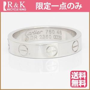カルティエ リング 指輪 レディース 18金 K18WG Cartier ミニラブ #48 8号 ホワイトゴールド BJ ** 中古 ring 価格見直し|rk-y