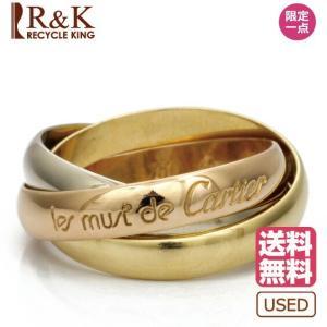 中古 Cartier リング 指輪 K18 PG WG 18金 トリニティ 3カラー #49 9.5号 カルティエ 18K レディース メンズ 女性 男性  BJ  ※|rk-y