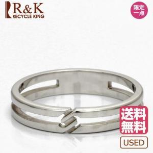 中古 GUCCI リング 指輪 K18WG 18金 インフィニティ #16 15号 グッチ レディース メンズ 女性 男性  BJ  ※ rk-y