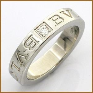 ブルガリ リング 指輪 レディース 18金 K18WG ダイヤモンド BVLGARI 7.5号 ホワイトゴールド BJ * 中古 ring 価格見直し|rk-y