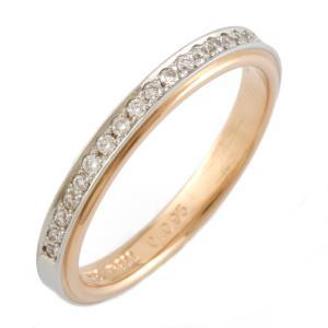 ポンテヴェキオ リング 指輪 18金 プラチナ K18PG PT900 ダイヤモンド Ponte Vecchio D0.095 ハーフエタニティ BJ ** 中古 ring 価格見直し|rk-y