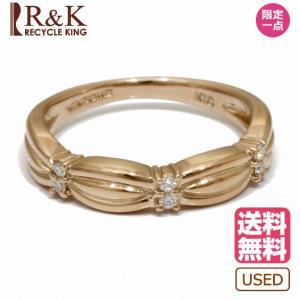 ヴァンドーム青山 リング 指輪 レディース 18金 ピンクゴールド VENDOME AOYAMA K18PG ダイヤモンド 9号 18K おしゃれ 中古|rk-y