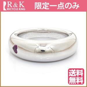 ショーメ リング 指輪 レディース 18金 K18WG CHAUMET アノーサファイア ハート 15号 BJ *おしゃれ 中古 ring 価格見直し|rk-y