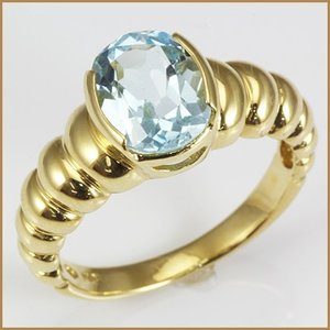 リング 指輪 レディース 18金 K18 ブルートパーズ 女性 かわいい オシャレ 中古 ring 価格見直し|rk-y