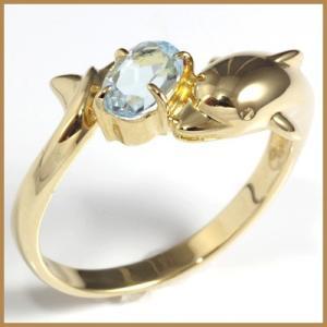 リング 指輪 レディース 18金 K18 ブルートパーズ ドルフィン イルカ 女性 かわいい オシャレ 中古 ring 価格見直し|rk-y